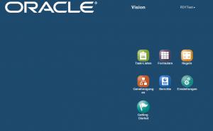 Benutzeroberfläche der Tablet-Version