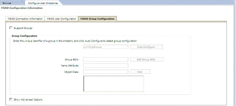 Dialog Konfiguration MSAD in Shared-Services