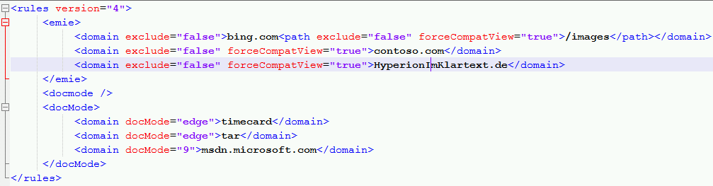 IE11-Sites-xml