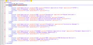 Inhalt der Export.xml Datei