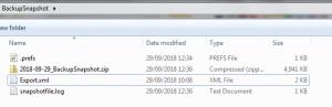 Arbeitsverzeichnis mit Dateien nach dem Prozess