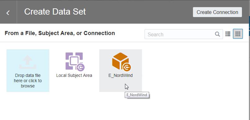 Ich wähle die Essbase Datenverbindung