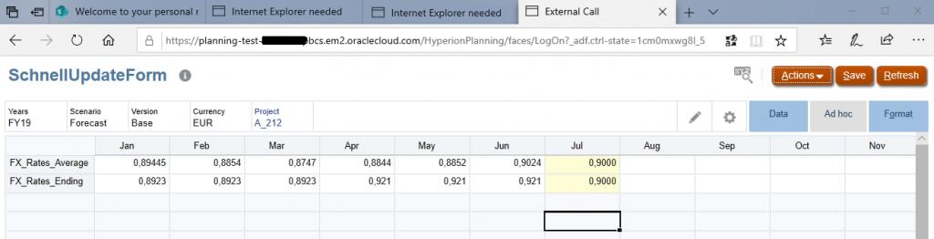 Formular welches ich mit einer URL ausserhalb der Cloud öffnen möchte.