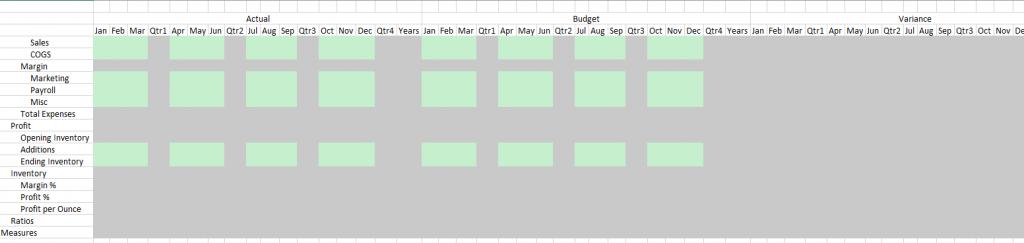 Excel mit beschreibbare und schreibgeschuetzte Zellen.