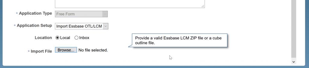 Menu um Datei mit Outline hochzuladen.