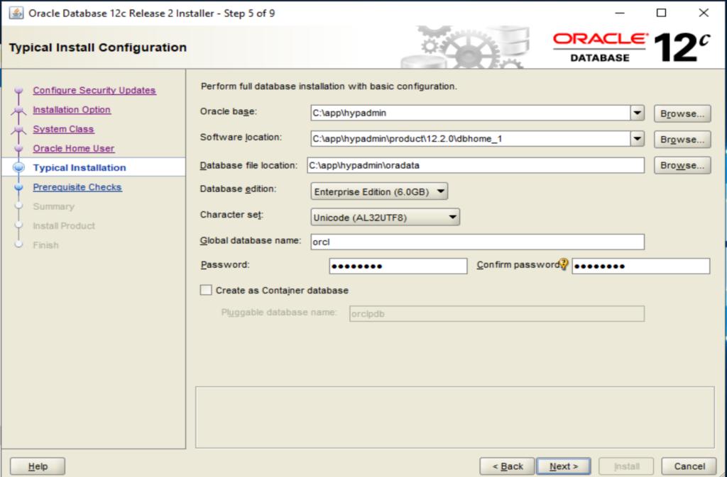 Oracle Base Konfiguration
