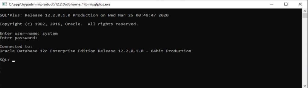 Login funktioniert mit SQL*Plus