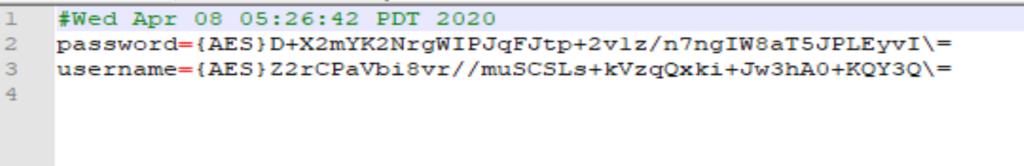 Boot.properties Datei verschlüsselt.
