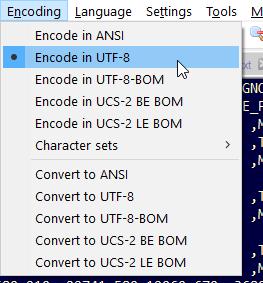 Encoding auf UTF-8-BOM