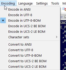 Encoding auf UTF-8