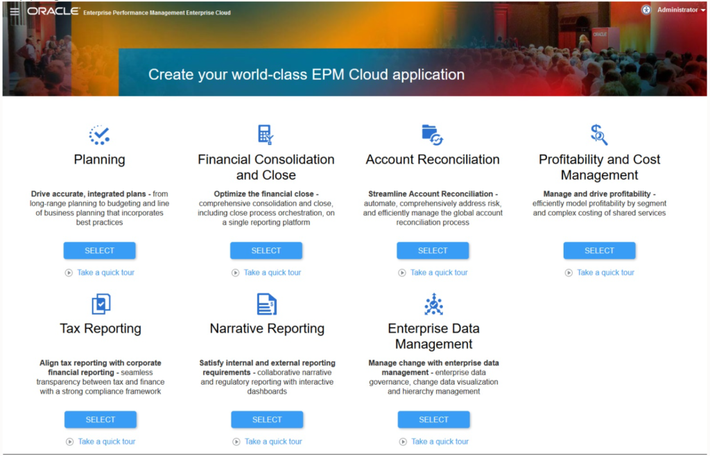 SAAS Angebot in der EPM Enterprise Cloud